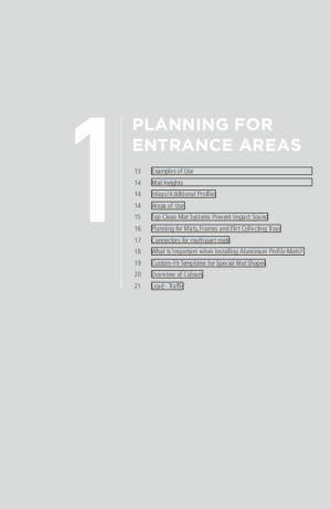 Part 1 - Planning for Entrance Areas - Geggus Brochure PDF