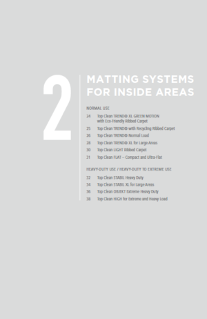 Part 2 - Matting Systems For Inside Areas - Geggus Brochure PDF